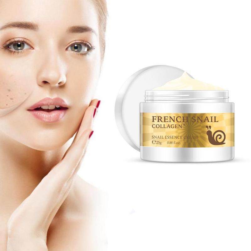 25g Health Snail Cream Hyaluronic Acid Moisturizer Anti Wrinkle Anti Aging Nourishing Serum Collagen Repair Day Cream Skin Care