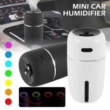 Taşınabilir LED araba hava nemlendirici uçucu yağ difüzör Mini USB hava nemlendirici temizleyici araba ultrasonik aromaterapi difüzör USB