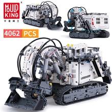 4062 sztuk DIY Technic koparka RC 2.4GHz silnik zdalnego sterowania śledzone bloki samochodu Model budynku zabawki dla chłopców
