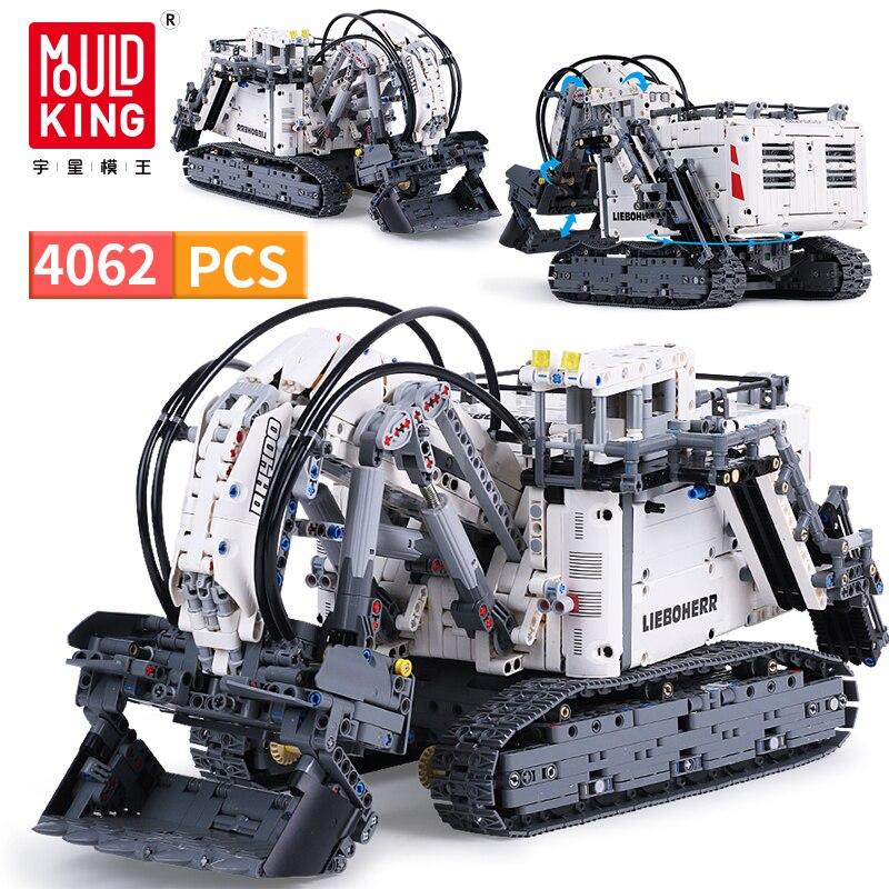 4062pcs DIY Compatible LegoED Technic RC Excavator 2.4GHz Motor Remote Control Tracked Car Blocks Building Model Boys Toys