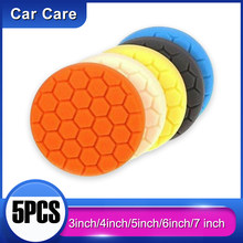 5 pçs carro polimento enceramento esponja roda disco de polimento conjunto kit 3 polegada m10 esponja disco almofada para carro polidor polimento polir polimento polir auto
