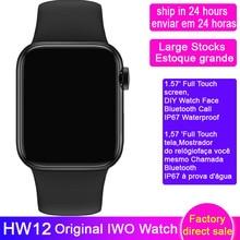 IP67 Waterproof Smartwatch HW12 6-40mm Heart-Rate-Monitor Bluetooth-Call IWO 12-Pro Measure