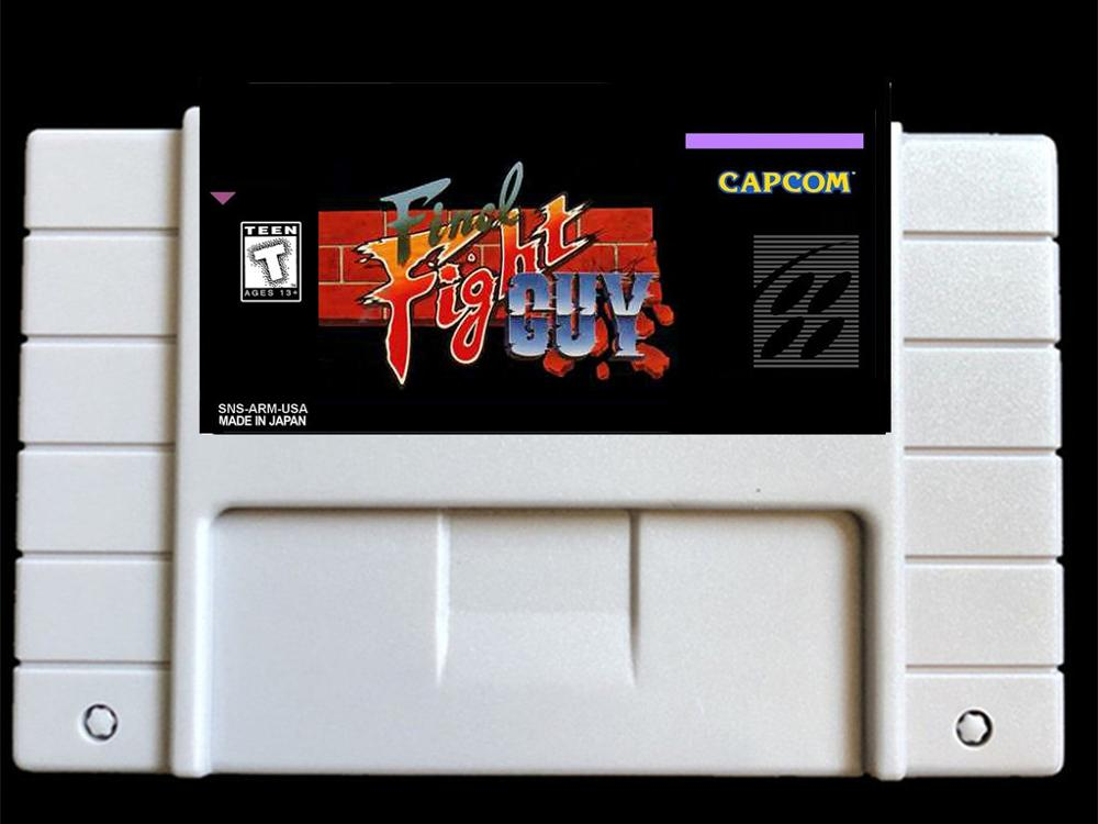 Final Fight GUY USA- NTSC version  46 pins Video games card  NTSC version for Retro Video games Console !