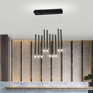 Image 3 - Modern LED Pendant Lights 30W 40W Black/Rose Gold Hanging Lamp For Living Dining Room Bar Home Deco Creative Pendant Lighting