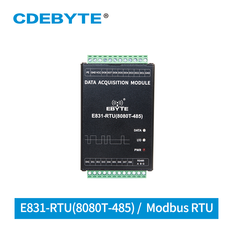 Digital Quantity 8 Channel Digital Input Relay Output Modbus RTU Dry Contact Acquisition IO Controller E831-RTU(8080T-485) RS485