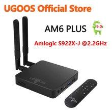 UGOOS AM6 Plus Android 9,0 Смарт ТВ коробка 4 Гб DDR4 32 Гб Amlogic S922X-J телеприставка 2,4G 5G Wifi 1000 м LAN 4K медиаплеер AM6 Pro