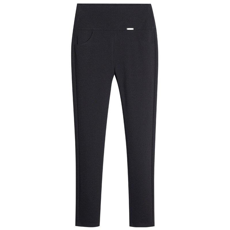 2019 Women Pencil Pants Winter Fashion Sexy High Waist Female High Elastic Pants Ladies Office Long Black Trousers