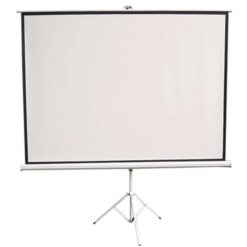 Tripod Screen 100 Inches/100 Cun Matte White 4:3 16:9 Projector Curtain High definition 3D Business Household 4k Screen Manufact