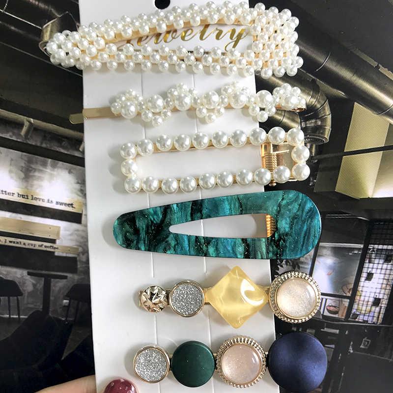 ¡Novedad de 2020! 1 Juego de broches para el pelo de perlas elegantes para mujer, accesorios para el cabello