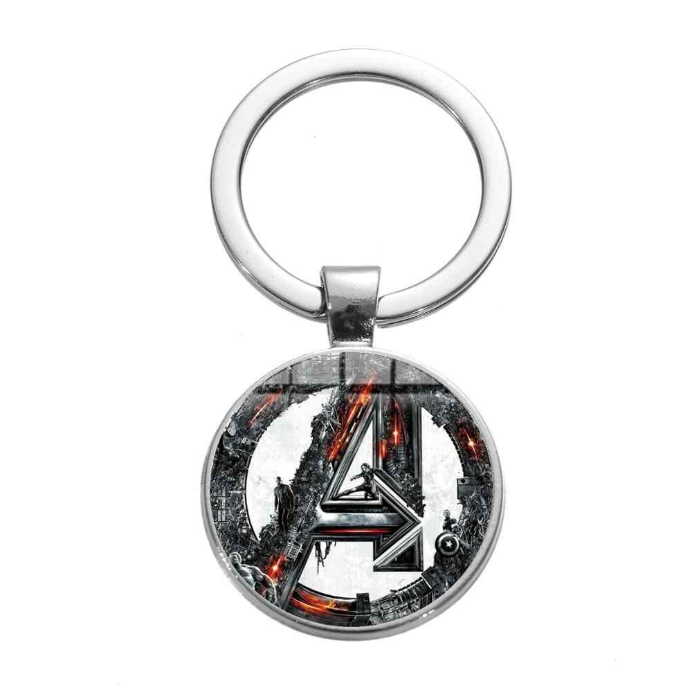 SONGDA nuevo los Vengadores infinito guerra película llavero superhéroe Iron Man Series cristal Domo cristal llavero para Super Fans