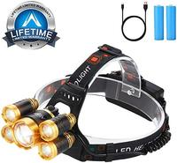 12000 LM Ultra Bright CREE LED Zoomable Work Headlight micro USB Rechargeable, 4 Modes Waterproof Head Lamp Best Headla