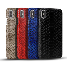 Vintage Snake PU Leather Case For iPhone XS Max XR XS X Bright Leather + PC Hard Phone Cover Case For iPhone 7 8 6 6S Plus Coque стоимость