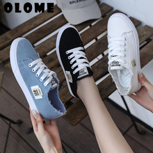 Spring Summer Women Sneakers Flat Platform Loafers Vulcanize Female Summer Canvas Shoes men canvas shoes Denim Casual Shoes