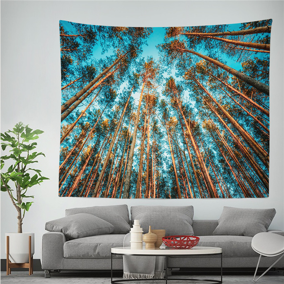 Arredamento Stile Hippie rami cielo nero bianco stile hippie tapestry mandala appeso a parete boho  oggettistica per la casa della parete camera da letto di stoffa tappeto