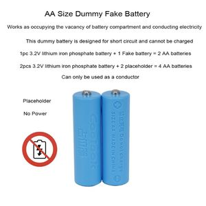 Image 3 - 3Pc 14500 AA Size Dummy Fake Battery Case Shell Placeholder Cylinder Conductor