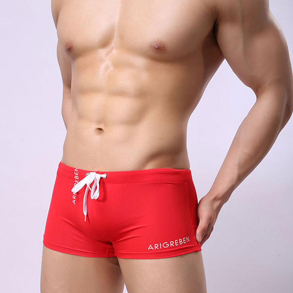 Men Swim Brief, Sexy Square Leg Athletic Swimming Trunks Breathable Board Surfing Shorts 2