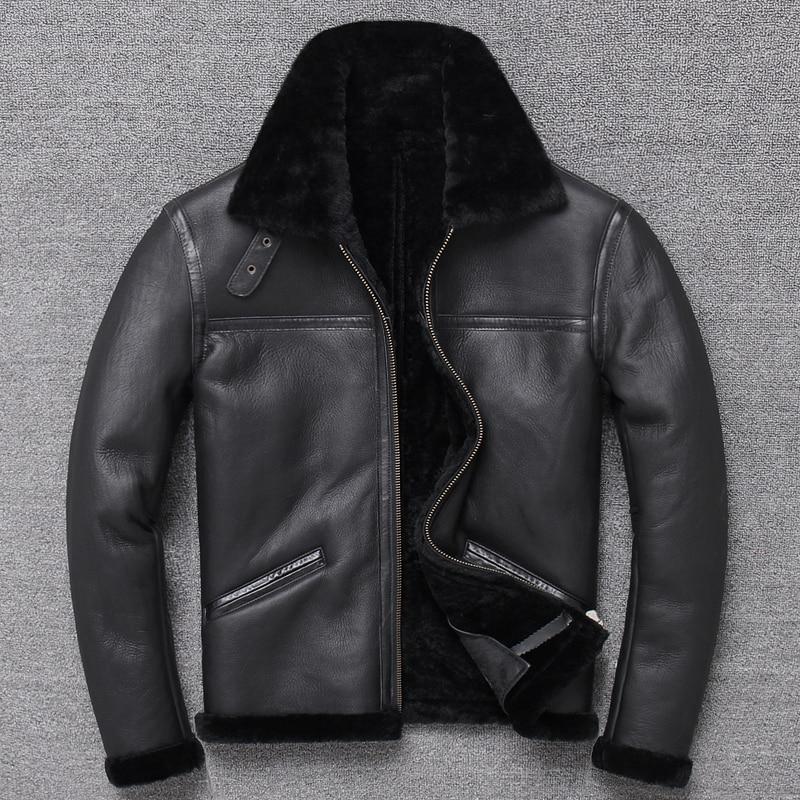 Hf3944d8db27446c1a9a6986584361035o Free shipping,Sales Winter Sheep fur coat,100% wool Shearling jacket,warm leather sheepskin coat.plus size classic motor style