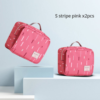 Sunveno Baby Diaper Bags Maternity Bag for Disposable Reusable Fashion Prints Wet Dry Diaper Bag Double Handle Wetbags 21*17*7CM 8