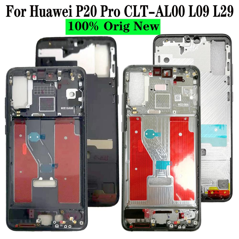 100% New For Huawei P20 Pro CLT-AL00 L09 L29 Metal Front Middle LCD Screen Housing Frame Bezel Chassis Replacement Repair Parts