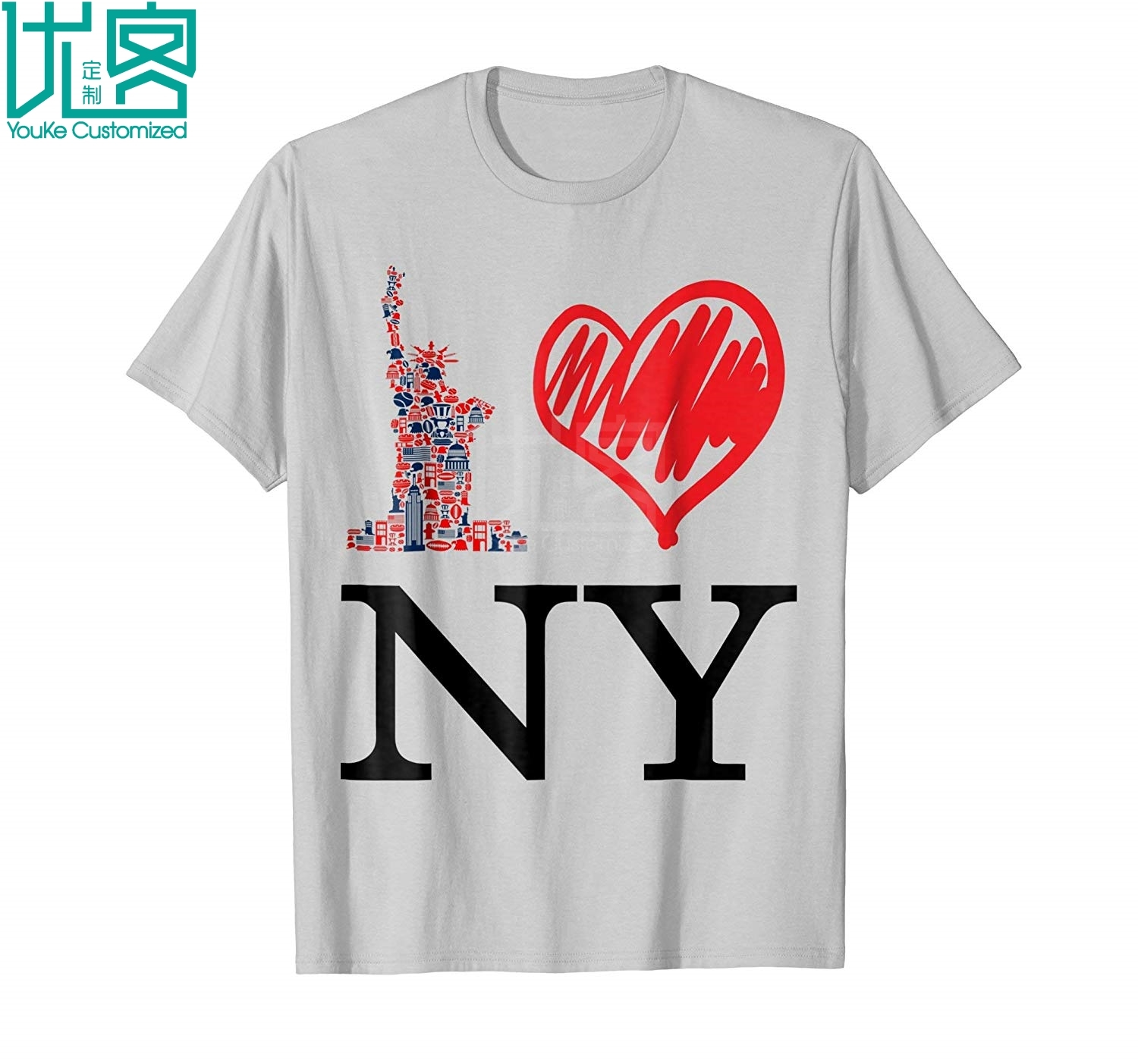 <font><b>I</b></font> <font><b>Love</b></font> New York T <font><b>Shirt</b></font> Heart <font><b>Ny</b></font> Gift Tshirt Amazing Short Sleeve Unique Casual Tees 100% Cotton Clothes T <font><b>Shirt</b></font> image