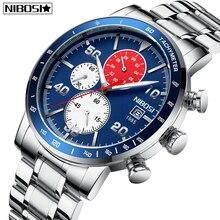 цена на Relogio Masculino New Sale NIBOSI Watches Men Quartz Top Brand Analog Military Male Watches Men Sports Army Watch Waterproof