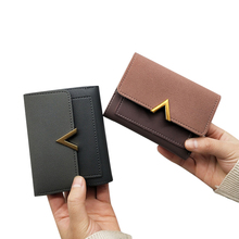 MINOFIOUS Short Women wallets Matte Leather Hasp Small