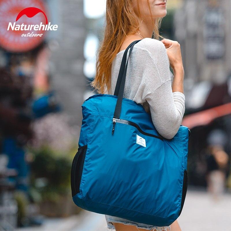 Naturehike Women Handbags Portable Folding Crossbody Bag Outdoor Travel Shopping Shoulder Bag Casual Bag Waterproof