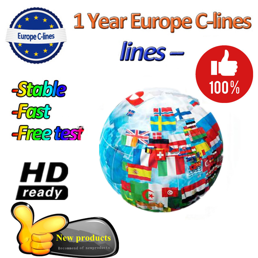 CCCAM Europe Cline 3/6/ 7 /8lines For Spain Uk French Germany Netherland Polsat For Satellte Receiver Decoder CCCAM