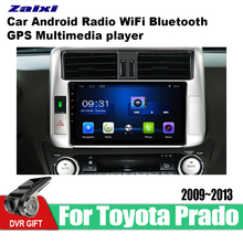 ZaiXi Android Car GPS Multimedia Player For Toyota Land Cruiser Prado 150 2009~2013 car Navigation radio Video Audio