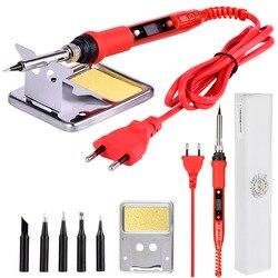 JCD-soldador eléctrico LCD 220V/110V 80W temperatura ajustable, soldador con puntas de pistola para soldar calidad, 908S