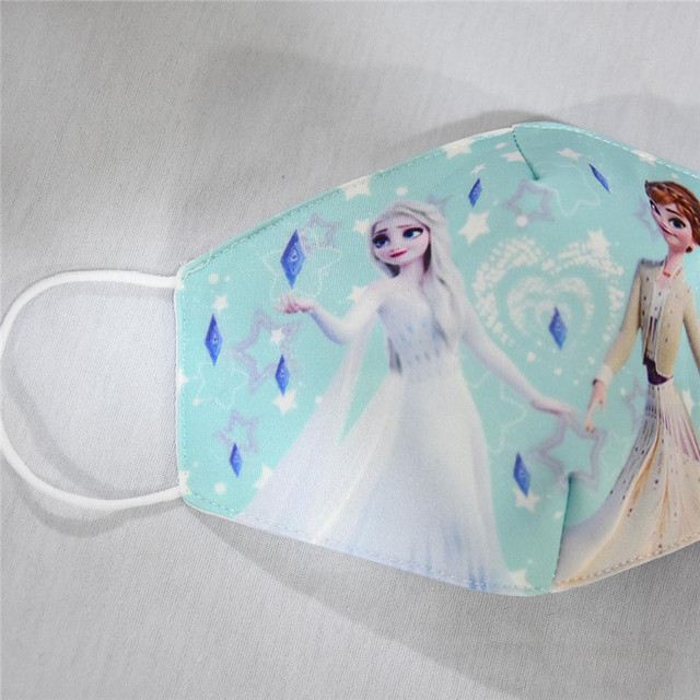 2020 Anti Pollution Elsa Anna Print Mask Adult Kids Dust Respirator Washable Reusable Masks Cotton Unisex Reusable Mouth Muffle 5