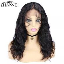 Волосы hanne, человеческие волосы, парики из натуральных волн, парики Remy, бразильские, средняя часть шнурка, парик из перрука, cheveux humaine для черных женщин