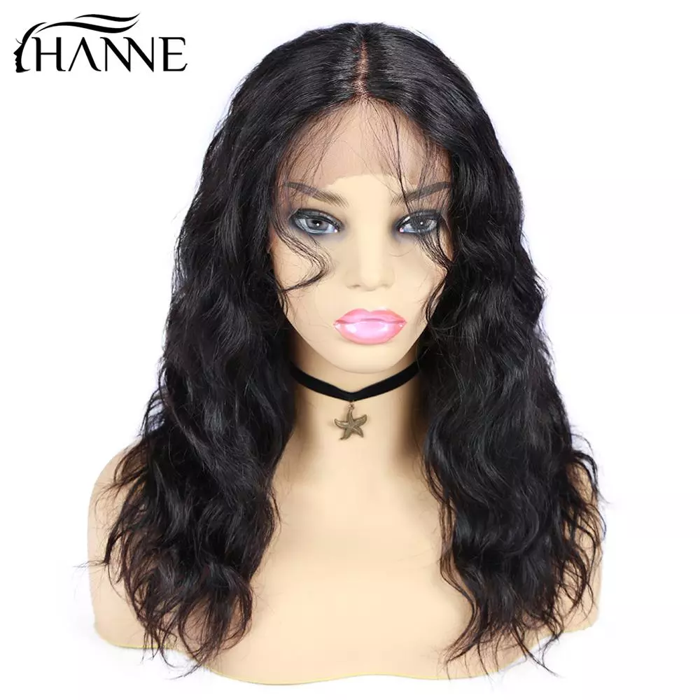 HANNE Hair Human Hair Wigs Natural Wave Wigs Remy Brazilian Middle Lace Part Wig Perruque Cheveux Humain For Black Women