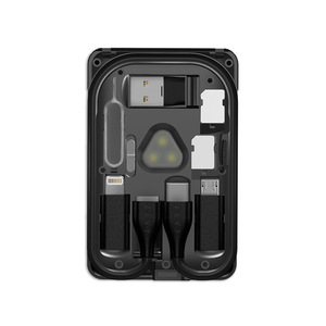 Image 5 - Multi Function Urban Survival Card Data Cable Storage Bag Card Tool Card Portable Finishing Package iPhone Wireless Charger