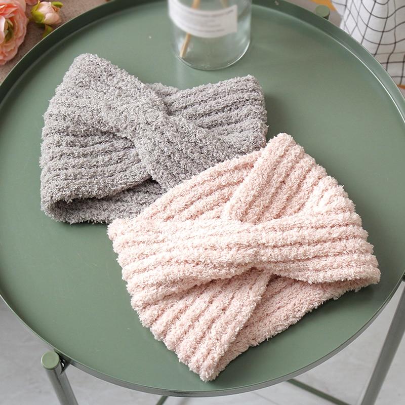 2019 Women's Wool Headbands Knitted Twisted Turban Head Wrap Bandage Winter Ear Warmer Girls Hairband Hair Accessories