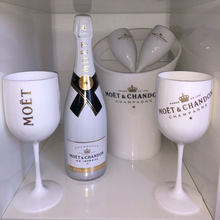 2-piece cocktail glass, champagne glass, electroplated glass, white galvanized plastic cup