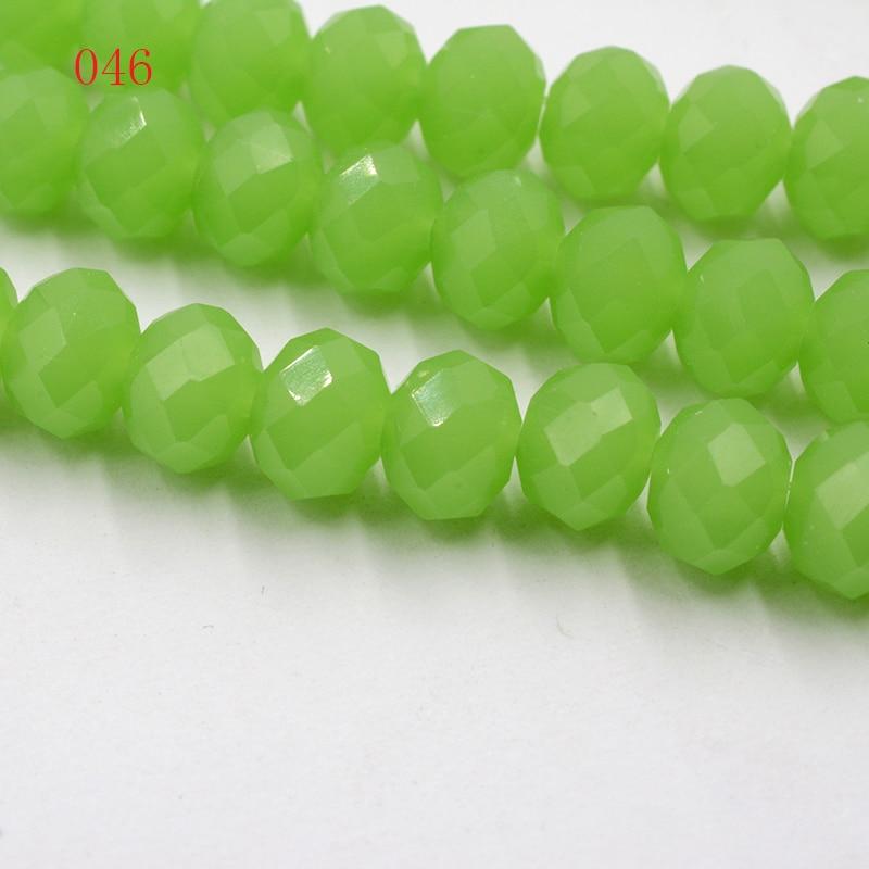 4 мм 140 шт./лот бусины из кристаллов, граненые круглые стеклянные бусины - Цвет: 046