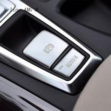 Estilo do carro para bmw x5 x6 e70 e71 x5m x6m freio de mão central botão interruptor h capa adesivos guarnição interior acessórios automóvel
