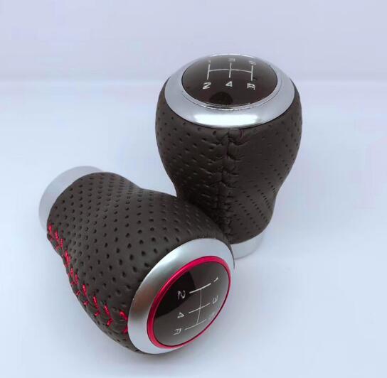 Ручка переключения рулевого механизма автомобиля кожаный рычаг переключения передач Красная палка ручной головные уборы рычаг Headball