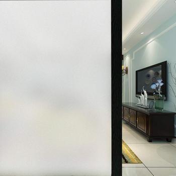 WXSHSH prywatność folie okienne matowe dekoracyjne szklana naklejka samoprzylepne folie okienne do domu łazienka biuro matowy biały tanie i dobre opinie Przeciwwybuchowe Izolacja cieplna 30 45 60 90 x 80 100 150 200 300 cm Tłoczone Matowe trawione Nieprzezroczyste Stained