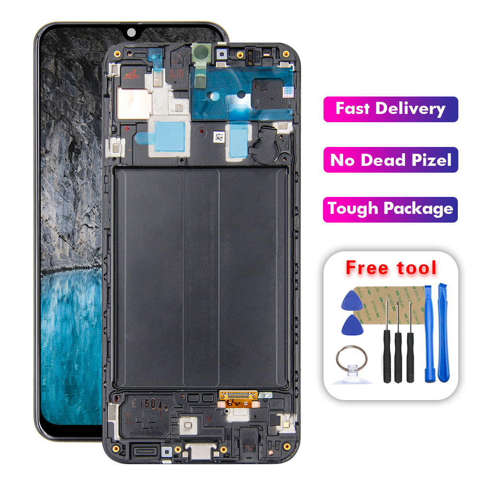 For <font><b>Samsung</b></font> <font><b>galaxy</b></font> <font><b>A30</b></font> A305/DS A305F A305FD A305A <font><b>LCD</b></font> Display Touch Screen Digitizer Assembly with Frame image
