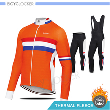 Winter Thermal Fleece Cycling Clothing Man's Long Sleeve Jersey Cycling Set MTB Cycle Wear Keep Warm Pro Team Road Bike Uniform wosawe soft thermal fleece cycling jersey long sleeve mtb bike bicycle shirt road cycling autumn winter sports wear