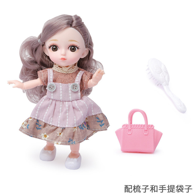 16cm/31cm Bjd Doll 12 Moveable Joints 1/12 Girls Dress 3D Eyes Toy with Clothes Shoes Kids Toys for Girls Children Birthday Gift 4