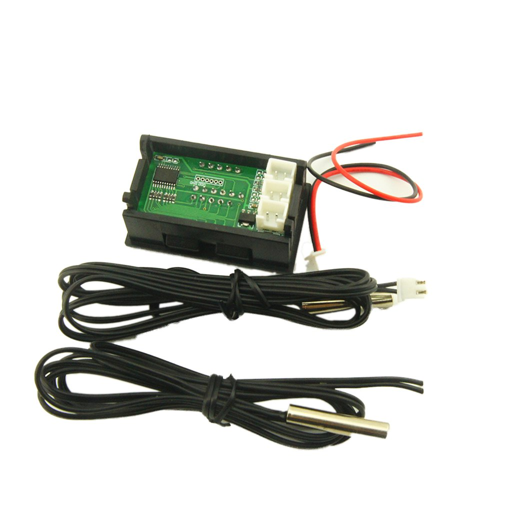 Professional DC4-28V High Precision Dual Display Digital Car Thermometer With NTC Waterproof Metal Probe