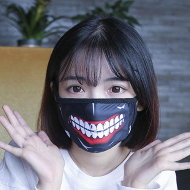 New Unisex Dust Anime Cartoon Cute Mask Cotton Mouth Mask Adjustable Face Masks Exhaust Gas Running Cycling Outdoor Activities 3