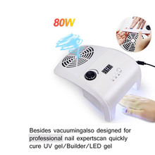 Nail Dust Collector with UV Led Nail Dryer Lamp Manicure Machine& Nail Salon Tools with Two Dust Bags for Nail Art Equipment