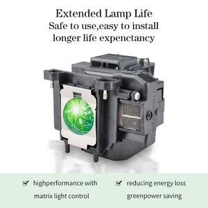 Image 4 - מקרן מנורת V13H010L67 הנורה ELPL67 עבור EB W16 EB W16SK EB X02 EB X11 EB X12 EB X14 EB X15 EH TW480 EH TW510 EH TW550 גרנד