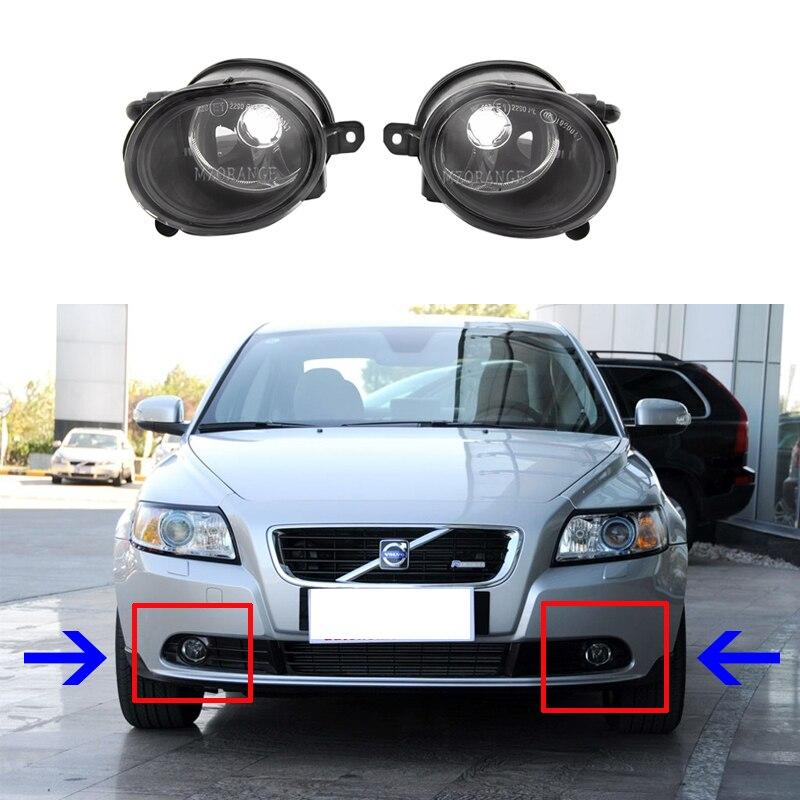 Fog Lights For Volvo S40 V50 2008-2011 Halogen Fog Light Fog Lamps LED Foglights Headlights Headlight LED DRL For Volvo S40