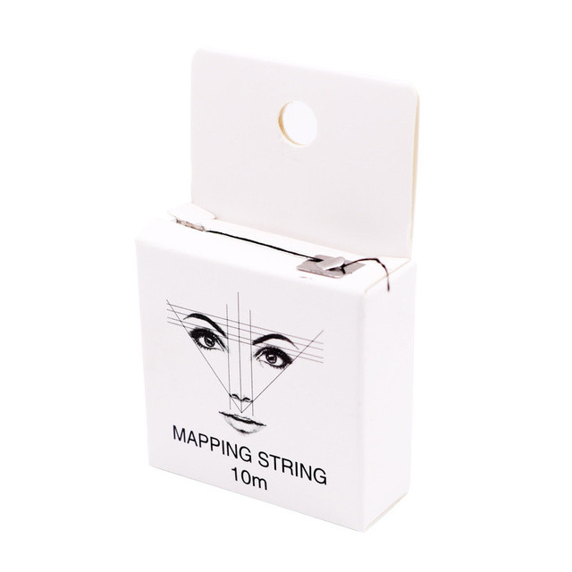 10m Eyebrow Pencil Marking Line Microblading Mapping String Pre-Inked Eyebrow Marker Thread Tattoo Brows Point Line Tool 2