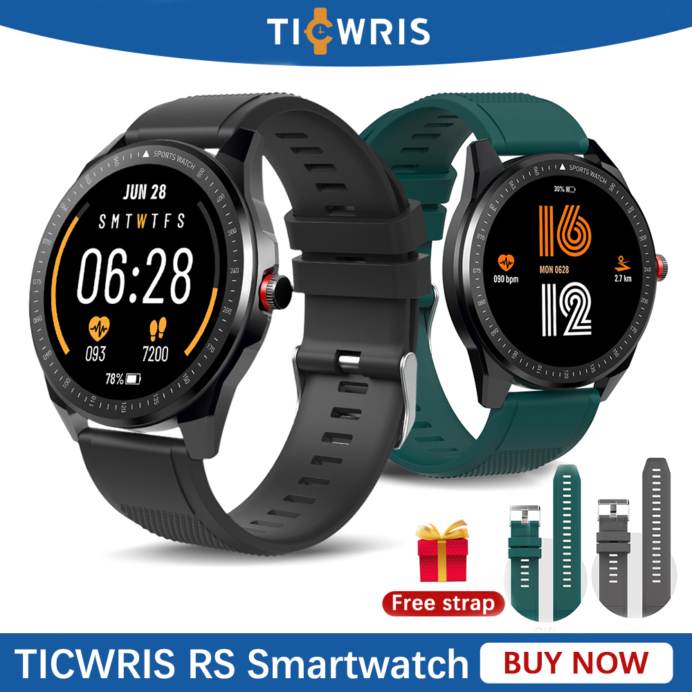 New Ticwris RS Smartwatch Men IP68 waterproof Heart Rate Monitor Sport Fitness Track Bluetooth 5.0 Smart Watch For Android IOS(China)